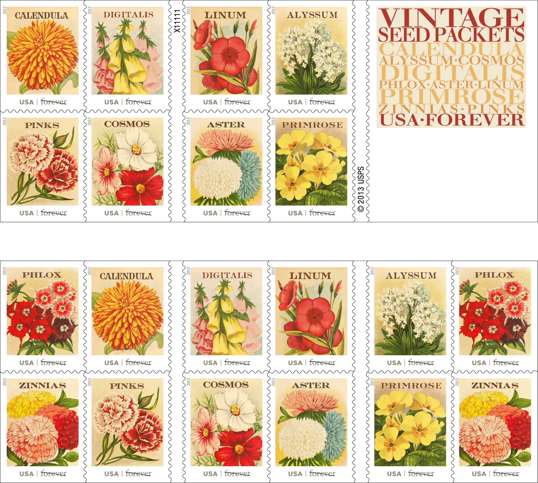 New Flower Stamps