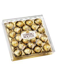 This is a box of Ferrero Rocher 24 count of delicious chocolates
